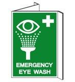 Аварийный знак символа мытья глаза, иллюстрация вектора, изолят на белом ярлыке предпосылки EPS10 иллюстрация штока