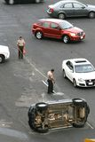Авария автомобиля Стоковая Фотография RF