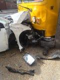 Авария автомобилей Стоковые Фотографии RF