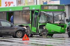 Авария автомобильной катастрофы стоковое фото rf