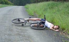 Авария велосипеда Стоковое Изображение