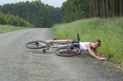 Авария велосипеда Стоковая Фотография RF