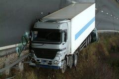Авария грузовика стоковое изображение