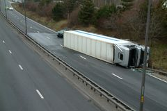 Авария грузовика Стоковые Фото