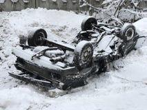 Авария зимы Стоковое Фото