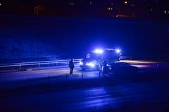 Авария на дороге Стоковая Фотография RF