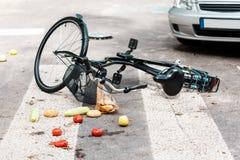 Авария на пешеходном переходе стоковая фотография rf