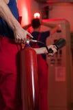 Авария с огнем в фабрике Стоковые Фото