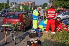 авария урбанская Стоковая Фотография RF