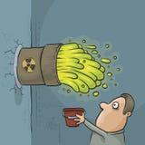 Авария ядовитых отходов бесплатная иллюстрация