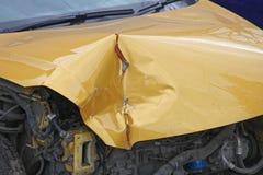 Авария Bonnet стоковая фотография