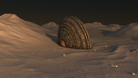 Авария UFO космического корабля Стоковое Изображение RF