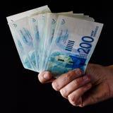 давать деньги Стоковая Фотография