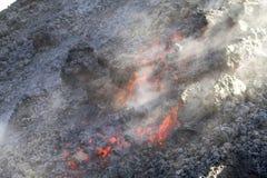 лава подачи вулканическая Стоковое фото RF