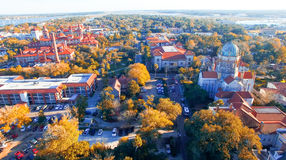 Августин Блаженный, Флорида Вид с воздуха на сумраке Стоковые Фото
