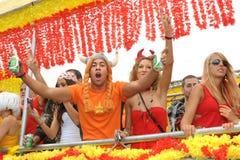 августовская улица zurich парада 14-ые 19th 2010 Стоковые Изображения RF