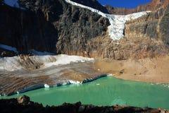 августовское ледниковое озеро Стоковая Фотография RF
