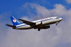 Авиакомпании Боинг 737 Belavia белорусские Стоковая Фотография