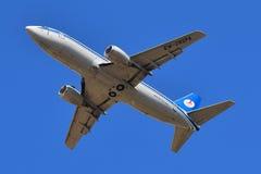 Авиакомпании Боинг 737 Belavia белорусские Стоковое Фото