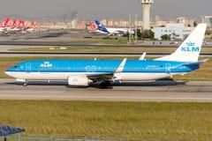 Авиакомпании Боинг 737-8K2 KLM PH-BXI королевские голландские Стоковое Изображение