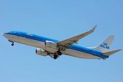 Авиакомпании Боинг 737 KLM королевские голландские Стоковые Изображения