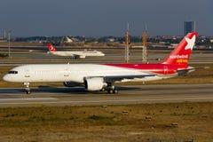 Авиакомпании Боинг 757 Nordwind Стоковые Фото