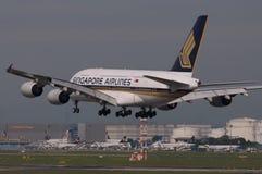 авиакомпании Боинг singapore Стоковое фото RF