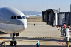 авиакомпании Катар Стоковая Фотография