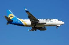 Авиакомпании международных перевозок Боинг 737 Украины Стоковое Изображение RF