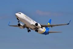 Авиакомпании международных перевозок Боинг 737 Украины Стоковое Фото