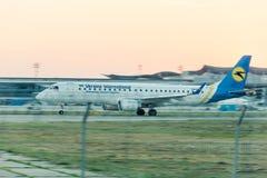 Авиакомпании международных перевозок Украины компании воздушных судн Стоковое Изображение