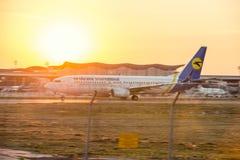 Авиакомпании международных перевозок Украины компании воздушных судн Стоковые Фотографии RF