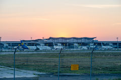 Авиакомпании международных перевозок Украины компании воздушных судн Стоковые Фото