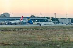 Авиакомпании международных перевозок Украины компании воздушных судн Стоковое Фото