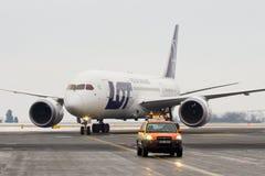 Авиакомпании СЕРИИ польские, Боинг B787 Dreamliner Стоковые Изображения