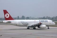 авиакомпании турецкие Стоковые Фотографии RF