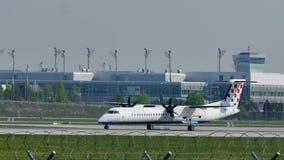 Авиакомпании Хорватии строгают в авиапорте Мюнхена, MUC, весне сток-видео