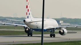 Авиакомпании Хорватии строгают в авиапорте Франкфурта, FRA сток-видео