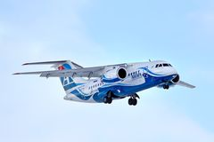 Авиакомпании Antonov An-148 Angara Стоковое Фото