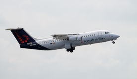 Авиакомпании Avro Брюсселя 146 RJ100 Стоковые Изображения RF