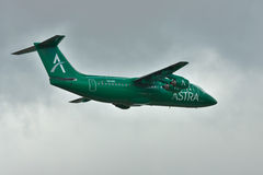 Авиакомпании BAe 146 Avro RJ Astra Стоковое фото RF