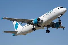 Авиакомпании 9K-CAM Jazeera, аэробус A320-214 Стоковое Фото