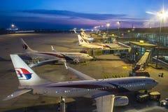 Авиакомпании MAS на международном аэропорте KLIA Куалаа-Лумпур стоковое фото
