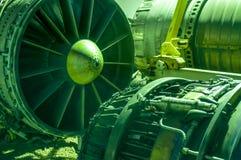 Авиакосмическое машиностроение, части машинного оборудования воздушных судн, стоковые фотографии rf