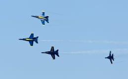 авиаотряд военно-морского флота демонстрации ангелов голубой мы стоковые фото