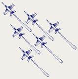 Авиаотряд демонстрации Стоковое Изображение RF