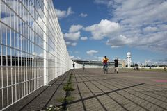 Авиаполе Tempelhof, Берлин, Германия: 15-ое августа 2018 стоковая фотография