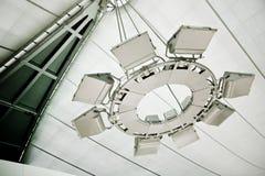 Авиапорт лампы освещения стоковые фотографии rf