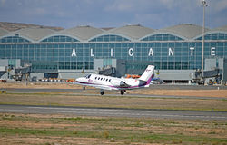 Авиапорт Аликанте Стоковая Фотография