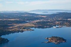 Авиапорт гавани пятницы и остров обеда стоковое фото rf